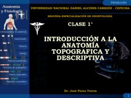 CLASE SEGUNDA ESPECIALIZACION ODONTOLOGIA