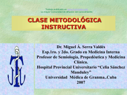Clase metodologica instructiva