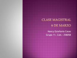 CLASE MAGISTRAL 9 DE MARZO - em2011