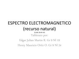 ESPECTRO ELECTROMAGNETICO (CLASE 28-04-10)