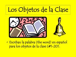 Los Objetos de la Clase