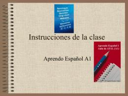Instrucciones de la clase