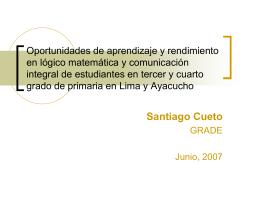 Oportunidades de aprendizaje y rendimiento en …