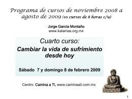 Programa de cursos de noviembre 2008 a agosto de 2009 …