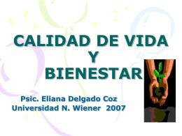 CALIDAD DE VIDA Y BIENESTAR