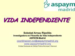 vida independiente - Tiempo de los derechos