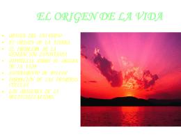 EL ORIGEN DE LA VIDA - jorgemartinmartos
