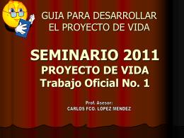 PROYECTO DE VIDA Capitulo No. 4