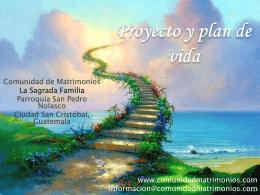 Plan y proyecto de vida