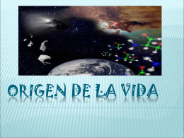 1. EL ORIGEN DE LA VIDA - BIOLOGIA | Just another
