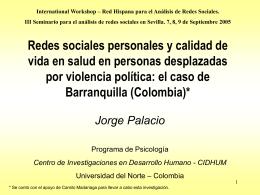 Redes sociales personales y calidad de vida en salud en