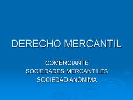 DERCHO MERCANTIL - Humanismo y Derecho