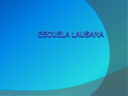 Escuela Lausana - ENRIQUE ZAPATA REYES | Universidad