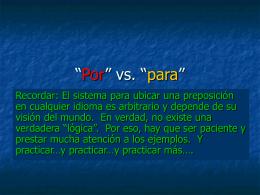"""Por"""" vs. """"para"""""""