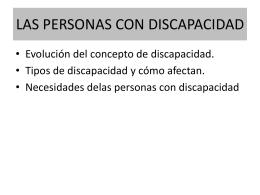LAS PERSONAS CON DISCAPACIDAD