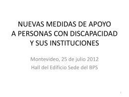 MEDIDAS DE APOYO A PERSONAS CON DISCAPACIDAD …