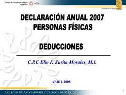 Diapositiva 1 - Despacho CP Elio T. Zurita y Asociados