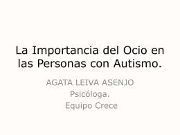 La Importancia del Ocio en las Personas con Autismo.