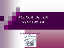 VIOLENCIA DIFERENCIA ENTRE AGRESIVIDAD INNATA …