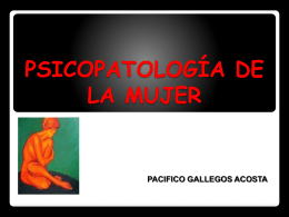 PSICOPATOLOGIA DE LA MUJER
