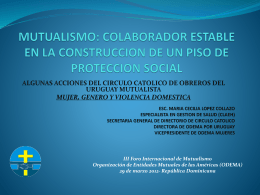 MUTUALISMO: COLABORADOR ESTABLE EN LA …