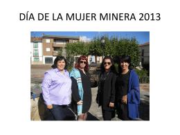 MUJER MINERA 2013