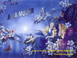 0012 A la mujer ( Lorenzo Mota)