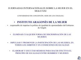 II JORNADAS INTERNACIONALES SOBRE LA MUJER EN EL …