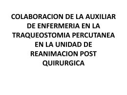 COLABORACION DE LA AUXILIAR DE ENFERMERIA EN LA