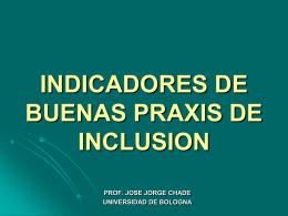 INDICADORES DE BUENAS PRAXIS DE INCLUSION PARA …