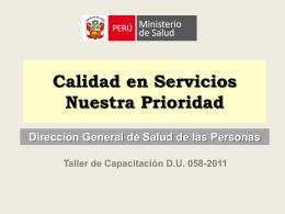 AVANCES EN LA OFERTA Y CALIDAD DE LOS SERVICIOS …