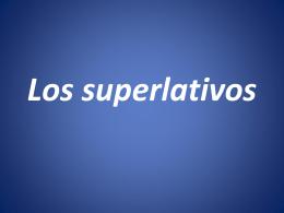 Los superlativos