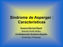 Management of Persons with Asperger Syndrome
