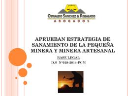 APRUEBAN ESTRATEGIA DE SANAMIENTO DE LA …