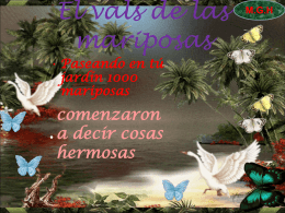 EL VALS DE LAS MARIPOSAS
