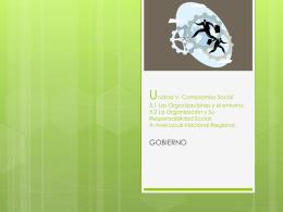 Unidad V. Compromiso Social 5.1 Las Organizaciones y el