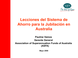 The Association of Superannuation Funds of Australia …