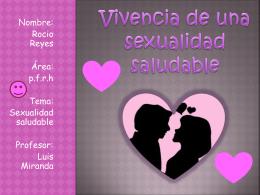 Vivencia de una sexualidad saludable