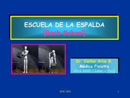 ESCUELA DE LA ESPALDA (Back School)