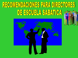 Sabbath School/ Personal Ministries