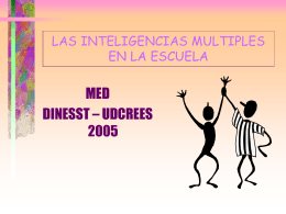 LAS INTELIGENCIAS MULTIPLES EN LA ESCUELA