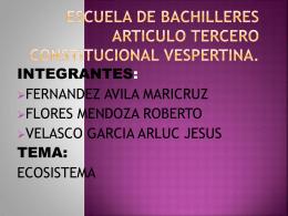 Escuela de Bachilleres Articulo Tercero Constitucional