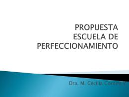 PROPUESTA ESCUELA DE PERFECCIONAMIENTO