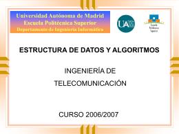 Estructuras de Datos y Algoritmos (EDA)