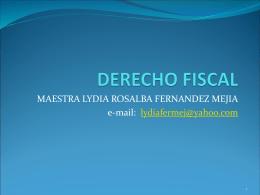 DERECHO FISCAL - INEF2011 - INEF2011