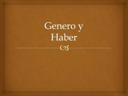 Genero Haber