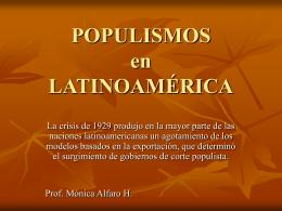 POPULISMOS - Monica alfaro