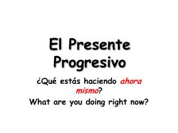 Presente Progresivo