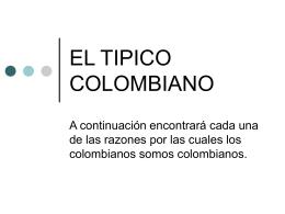 EL TIPICO COLOMBIANO