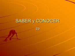 SABER y CONOCER